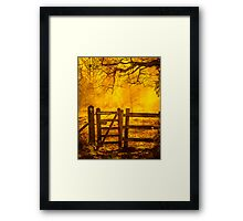 Gate To Nowhere Framed Print