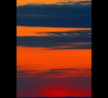 Long Island Sound Colorful Evening Sky - Stony Brook, New York  by © Sophie W. Smith