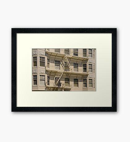 San Francisco Apartments Framed Print