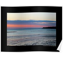 Pink Evening At West Meadow Beach - Stony Brook, New York  Poster