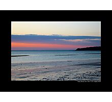 Pink Evening At West Meadow Beach - Stony Brook, New York  Photographic Print