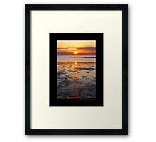 West Meadow Beach Colorful Sunset - Stony Brook, New York  Framed Print