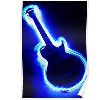 Electric Light Guitar Poster