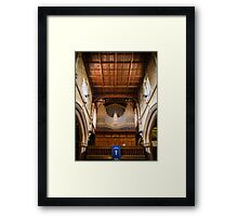 St Lawrence Church Organ Hungerford England Framed Print