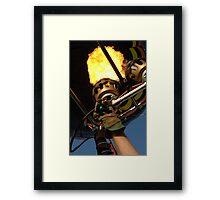 Hot Air Balloon Burner Framed Print