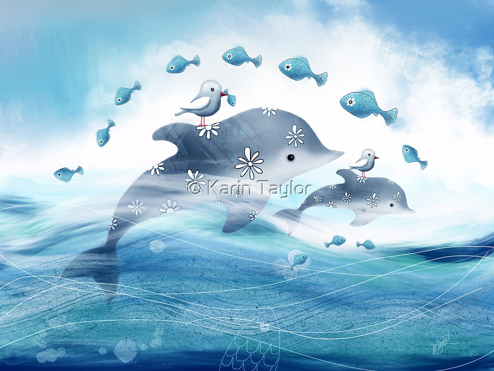 Dolphin Love by © Karin Taylor