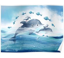 Dolphin Love Poster