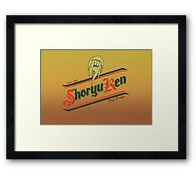 Shoryuken pale pilsen Framed Print