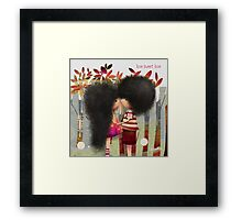 love sweet love Framed Print