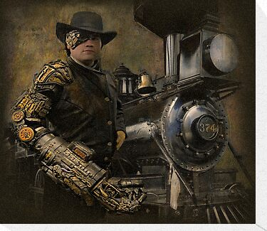 Steampunk Series, Man with Arm 1 by Jeff Burgess