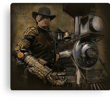 Steampunk Series, Man with Arm 1 Canvas Print