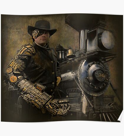 Steampunk Series, Man with Arm 1 Poster