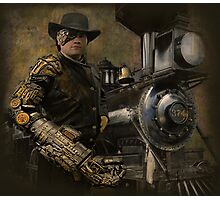 Steampunk Series, Man with Arm 1 Photographic Print