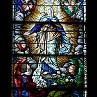 Beautiful stained glass window of Mary  by Brian D. Campbell