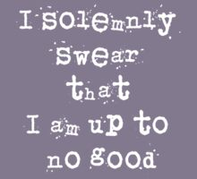 I solemnly swear that I am up to no good - Harry Potter Kids Tee