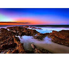 Sunset at Rainbow Bay Photographic Print