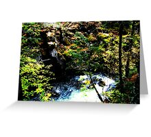 Union Bliss of flowing water Greeting Card