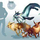 Eevee Trio by RJ Palmer
