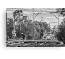 Cyclists of Melbourne Canvas Print