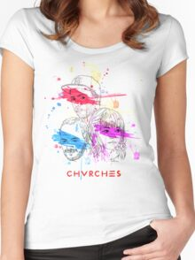 CHVRCHES ILLUSTRATION Women's Fitted Scoop T-Shirt