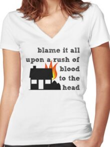 Coldplay - A Rush of Blood to the Head Women's Fitted V-Neck T-Shirt