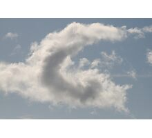 Cloud Alphabet Photographic Print