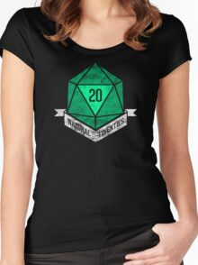 Natural 20's (GREEN) Women's Fitted Scoop T-Shirt