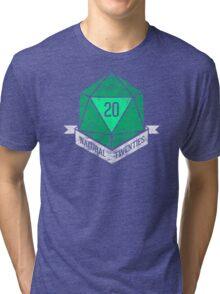 Natural 20's (GREEN) Tri-blend T-Shirt