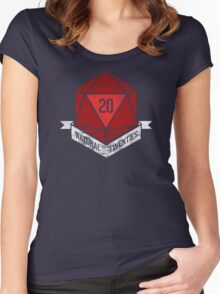 Natural 20's (RED) Women's Fitted Scoop T-Shirt