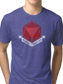 Natural 20's (RED) Tri-blend T-Shirt
