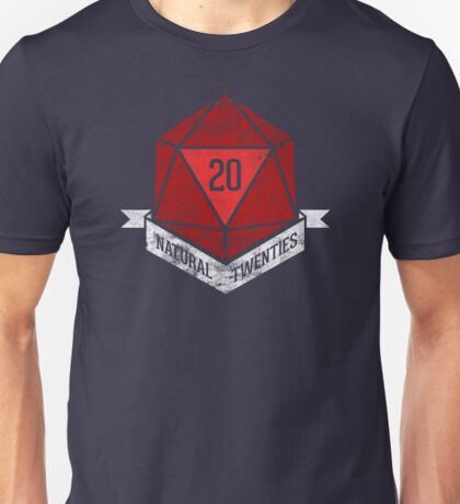 Natural 20's (RED) T-Shirt