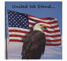 United we stand - Bald Eagle & American Flag Kids Clothes