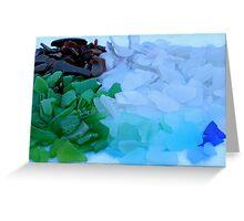 Sea Glass Haul Greeting Card