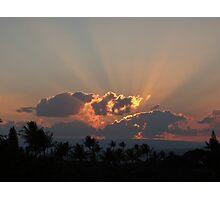 Blazing Sunset Photographic Print