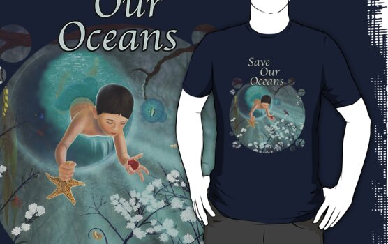 Keepsakes of the Ocean - Save Our Oceans - Clothing + Stickers by Audra Lemke