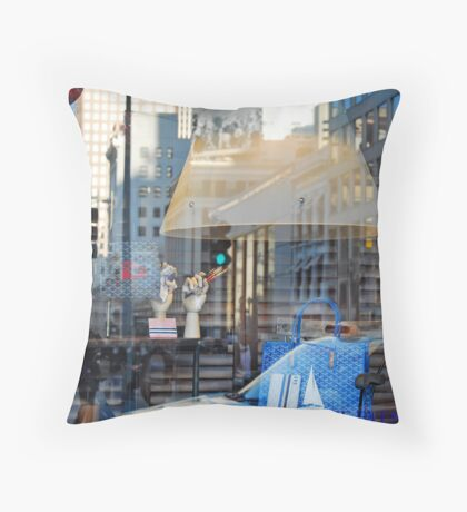 Window display composition Throw Pillow