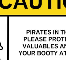 Pirates caution 2 Sticker