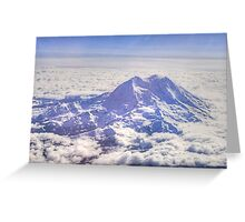 Above Mount Rainier in HDR Greeting Card