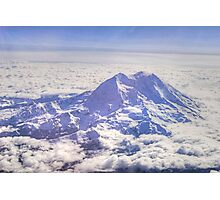Above Mount Rainier in HDR Photographic Print