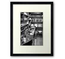 The Apothecary (HDR) B&W Framed Print