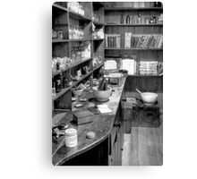 The Apothecary (HDR) B&W Canvas Print