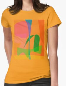 Corn Field Sundown Womens Fitted T-Shirt