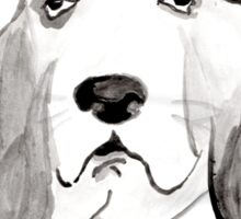 Hound in Japanese Ink Wash Sticker