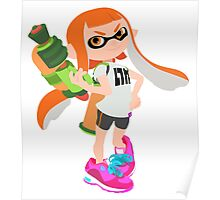 Splatoon | Orange Inkling Poster