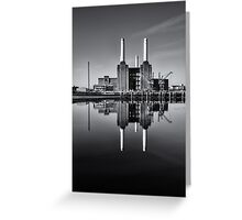 Battersea Power Station (England) Mono Greeting Card