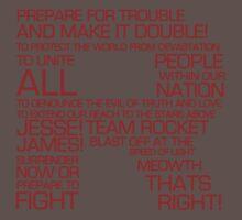 Team Rocket Motto Shirt Typography Kids Clothes