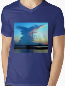 Blue dominance Mens V-Neck T-Shirt