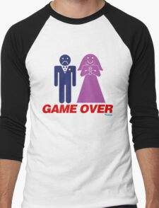 Game Over Marriage Men's Baseball ¾ T-Shirt