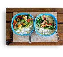 Green Curry. Canvas Print