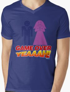 Game Over Yeeaaahhh! Marriage Mens V-Neck T-Shirt
